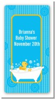 Duck - Custom Rectangle Baby Shower Sticker/Labels