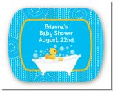 Duck - Personalized Baby Shower Rounded Corner Stickers