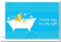 Duck - Baby Shower Thank You Cards