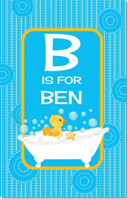 Duck - Personalized Baby Shower Nursery Wall Art