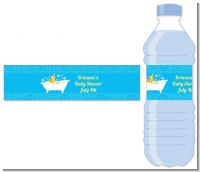 Duck - Personalized Baby Shower Water Bottle Labels