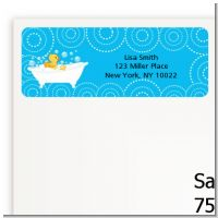 Duck - Baby Shower Return Address Labels