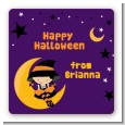 Dress Up Witch Costume - Square Personalized Halloween Sticker Labels thumbnail