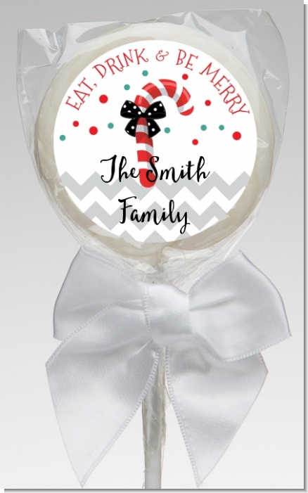 Eat, Drink & Be Merry - Personalized Christmas Lollipop Favors