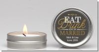 Eat Drink And Be Married - Bridal Shower Candle Favors