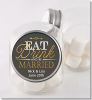 Eat Drink And Be Married - Personalized Bridal Shower Candy Jar