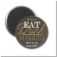 Eat Drink And Be Married - Personalized Bridal Shower Magnet Favors