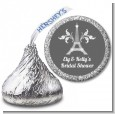 Eiffel Tower - Hershey Kiss Bridal Shower Sticker Labels thumbnail