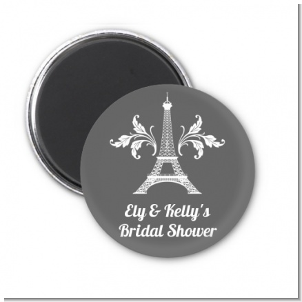 Eiffel Tower - Personalized Bridal Shower Magnet Favors
