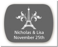 Eiffel Tower - Personalized Bridal Shower Rounded Corner Stickers
