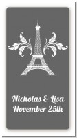 Eiffel Tower - Custom Rectangle Bridal Shower Sticker/Labels