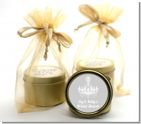 Elegant Chandelier - Bridal Shower Gold Tin Candle Favors