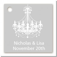Elegant Chandelier - Personalized Bridal Shower Card Stock Favor Tags