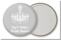 Elegant Chandelier - Personalized Bridal Shower Pocket Mirror Favors