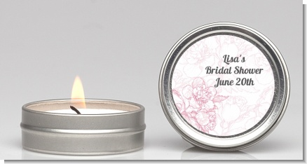 Elegant Flowers - Bridal Shower Candle Favors