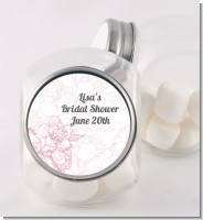 Elegant Flowers - Personalized Bridal Shower Candy Jar
