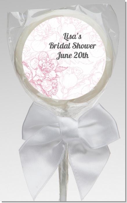 Flowers For Bridal Shower Favors : Elegant flowers bridal shower lollipop favors