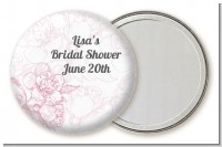 Elegant Flowers - Personalized Bridal Shower Pocket Mirror Favors