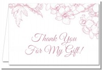 Elegant Flowers - Bridal Shower Thank You Cards