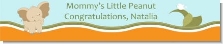 Elephant Baby Neutral - Personalized Baby Shower Banners