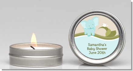 Elephant Baby Blue - Baby Shower Candle Favors