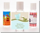 Elephant Baby Blue - Personalized Baby Shower Hand Sanitizers Favors
