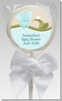 Elephant Baby Blue - Personalized Baby Shower Lollipop Favors