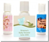 Elephant Baby Blue - Personalized Baby Shower Lotion Favors