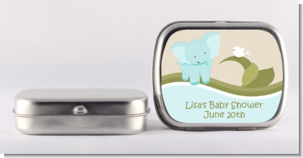 Elephant Baby Blue - Personalized Baby Shower Mint Tins