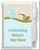Elephant Baby Blue - Baby Shower Personalized Notebook Favor