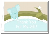 Elephant Baby Blue - Baby Shower Thank You Cards