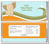 Elephant Baby Neutral - Personalized Baby Shower Candy Bar Wrappers