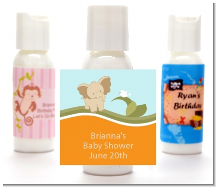 Elephant Baby Neutral - Personalized Baby Shower Lotion Favors
