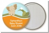 Elephant Baby Neutral - Personalized Baby Shower Pocket Mirror Favors