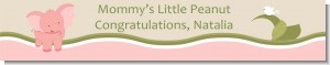 Elephant Baby Pink - Personalized Baby Shower Banners