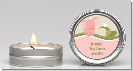 Elephant Baby Pink - Baby Shower Candle Favors