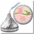 Elephant Baby Pink - Hershey Kiss Baby Shower Sticker Labels thumbnail
