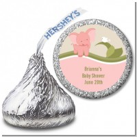 Elephant Baby Pink - Hershey Kiss Baby Shower Sticker Labels