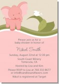 Elephant Baby Pink - Baby Shower Invitations