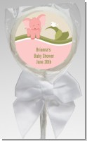 Elephant Baby Pink - Personalized Baby Shower Lollipop Favors