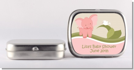 Elephant Baby Pink - Personalized Baby Shower Mint Tins