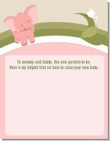 Elephant Baby Pink - Baby Shower Notes of Advice