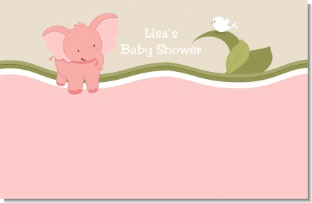 Elephant Baby Pink - Personalized Baby Shower Placemats
