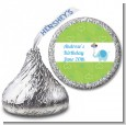 Elephant Blue - Hershey Kiss Birthday Party Sticker Labels thumbnail