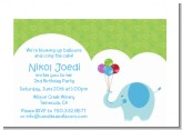 Elephant Blue - Birthday Party Petite Invitations