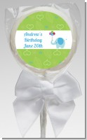 Elephant Blue - Personalized Birthday Party Lollipop Favors