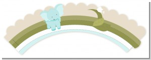 Elephant Baby Blue - Baby Shower Cupcake Wrappers