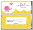 Elephant Pink - Personalized Birthday Party Candy Bar Wrappers thumbnail