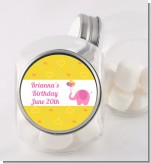Elephant Pink - Personalized Birthday Party Candy Jar