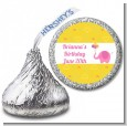 Elephant Pink - Hershey Kiss Birthday Party Sticker Labels thumbnail